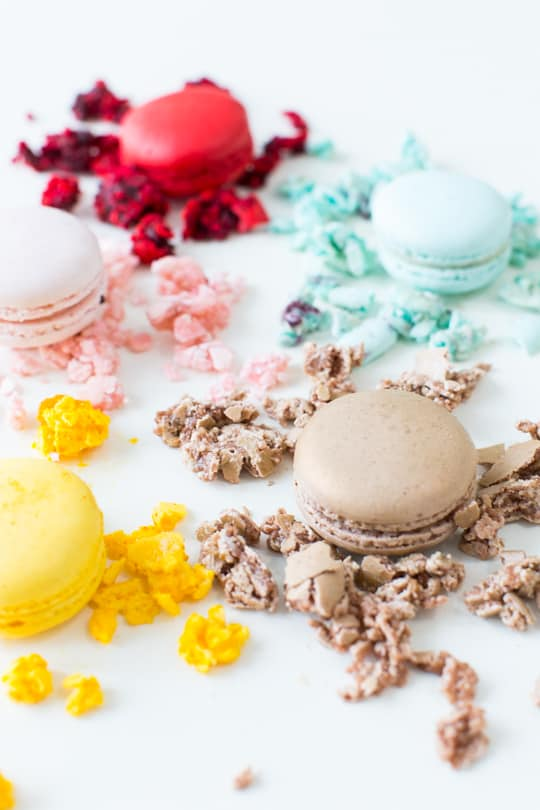 homemade macaron ice cream recipe | sugar & cloth