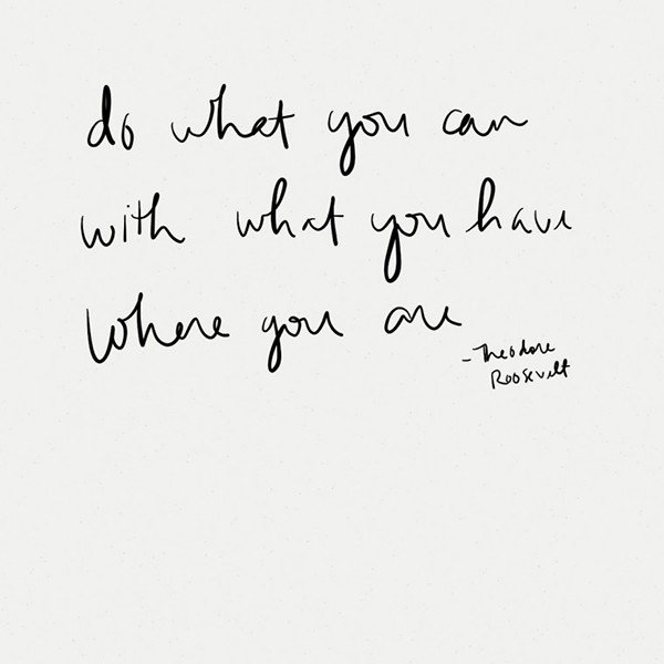 do what you can with what you have quote