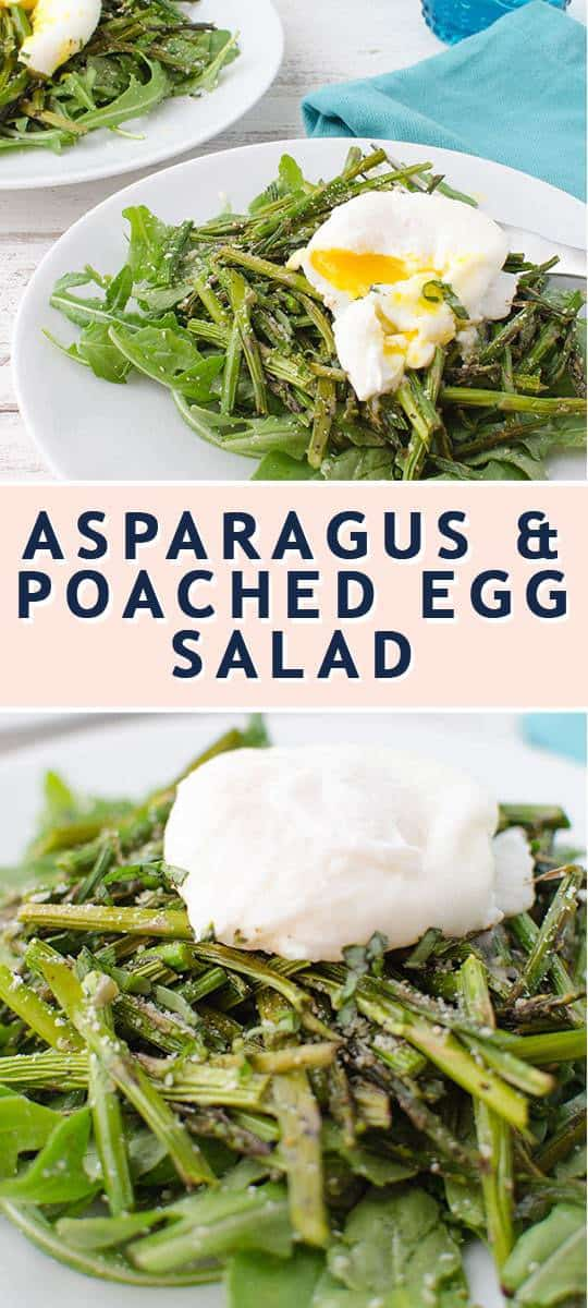 photo of the Asparagus & Poached Egg Recipe Card by top Houston lifestyle blogger Ashley Rose of Sugar & Cloth