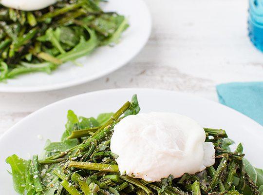 Asparagus & Poached Egg Salad Recipe   sugar & cloth