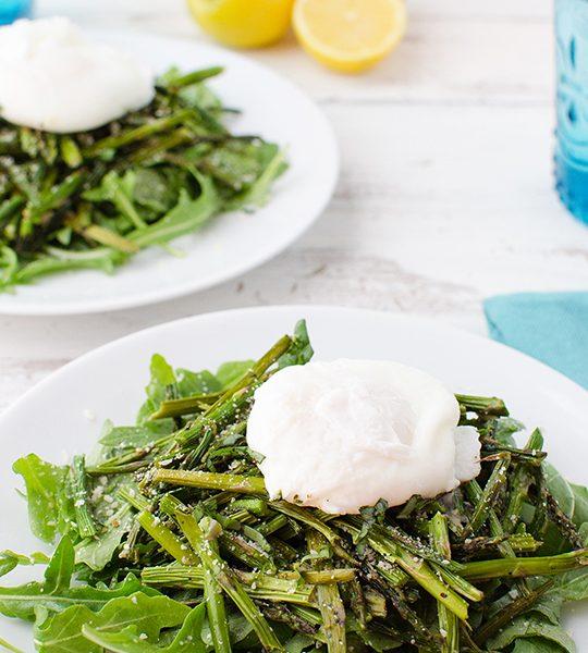 Asparagus & Poached Egg Salad Recipe | sugar & cloth