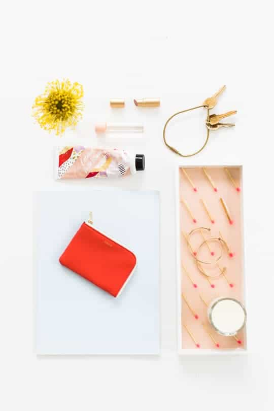 DIY patterned matches vanity tray | sugar & cloth