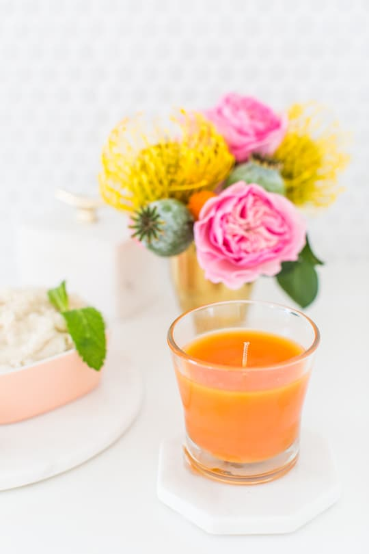 DIY vanilla orange mint body scrub recipe | sugar & cloth