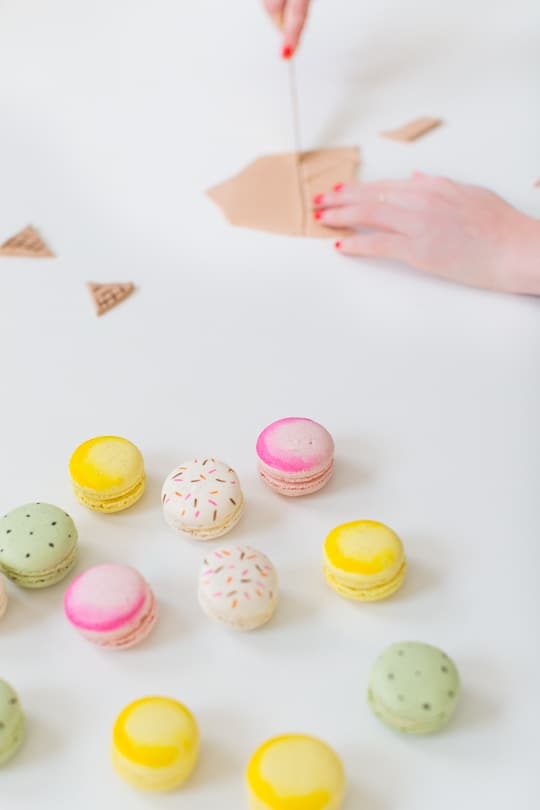DIY ice cream cone macarons | sugar & cloth