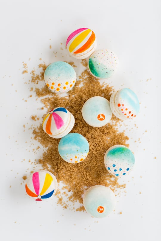 DIY beach macarons | sugar & cloth