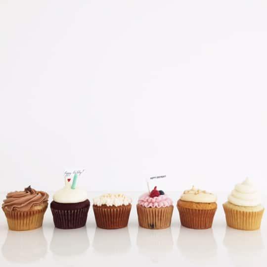 variety birthday cupcakes