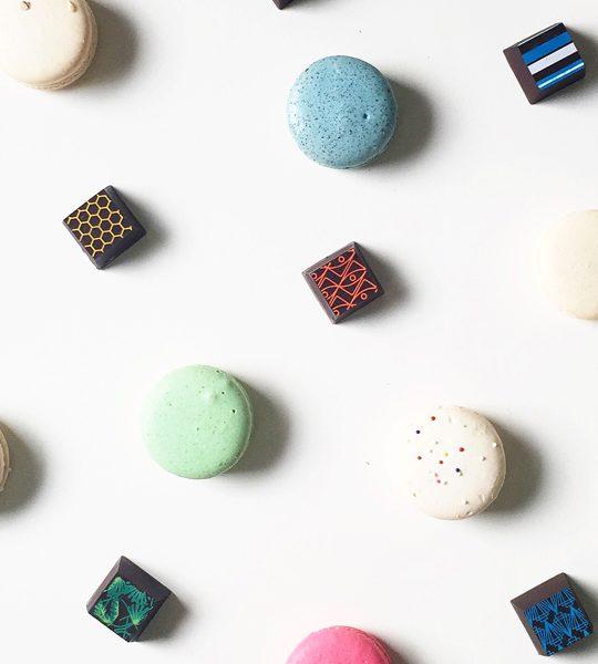 macarons and chocolates