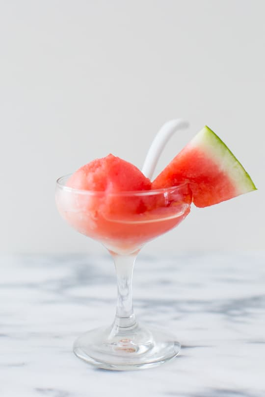 Sugar Free Spiked Watermelon Sorbet Recipe | sugar & cloth