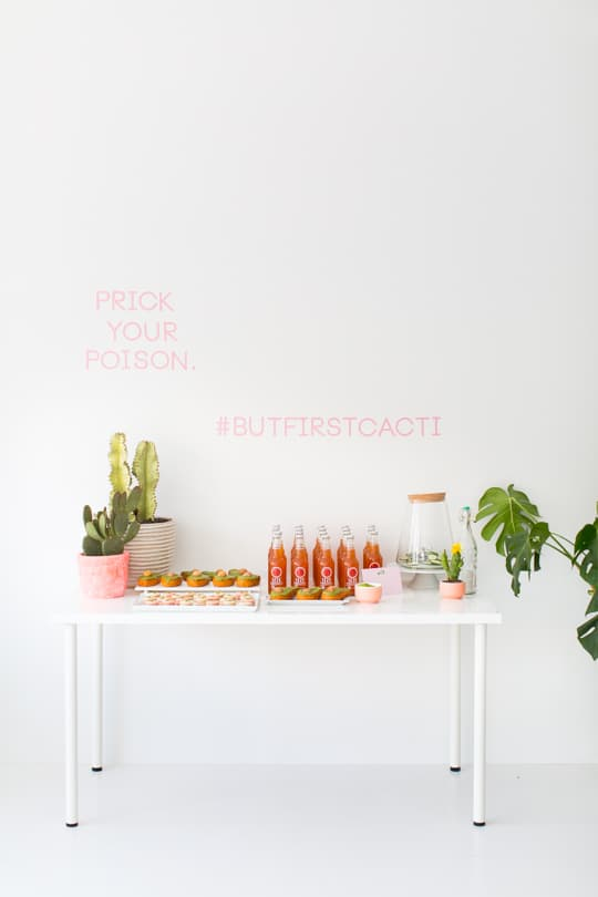 a cactus inspired brunch party | sugar & cloth
