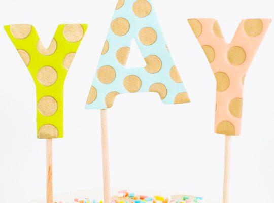 DIY gold polka dot cake   sugar & cloth