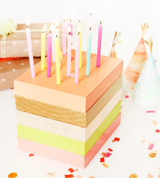 DIY wooden birthday cake decor | sugar & cloth
