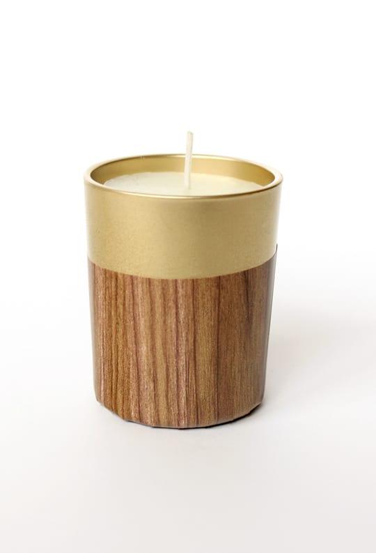 DIY retro faux wood candle   sugar & cloth
