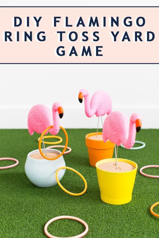 photo of a diy backyard game idea by top Houston lifestyle blogger Ashley Rose of Sugar & Cloth