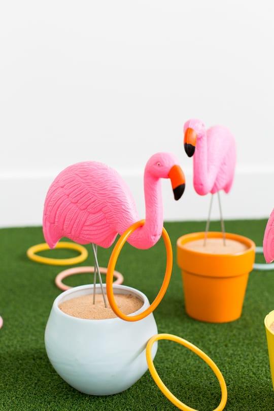 Diy Flamingo Ring Toss Yard Game Sugar Amp Cloth Diy