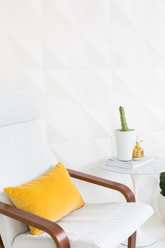 DIY retro wall panel installation (for renters!) | sugar & cloth