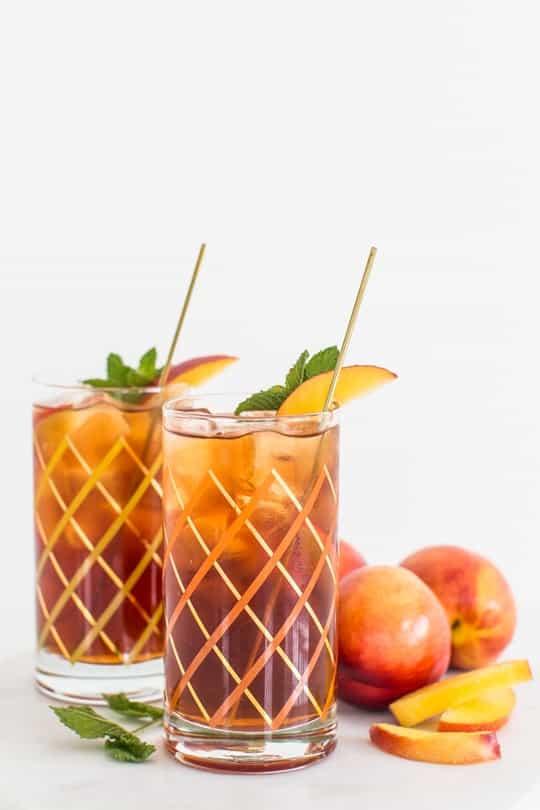 Peach iced tea cocktail recipe sugar cloth for Iced tea cocktail recipes