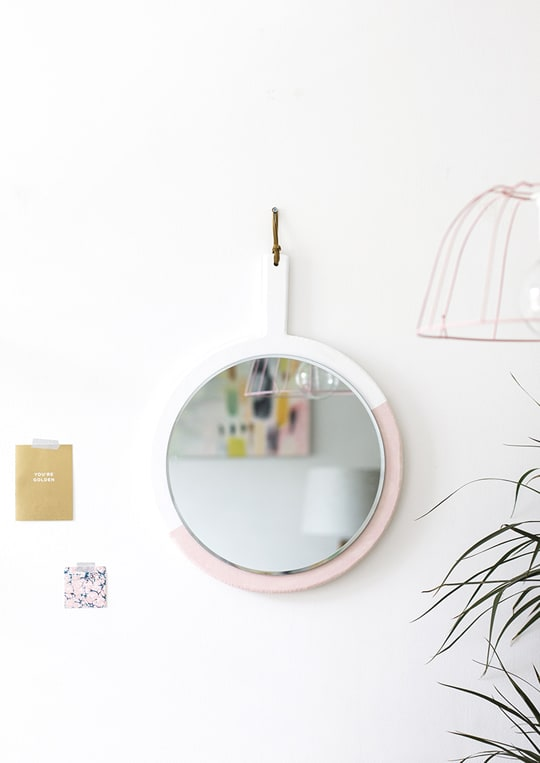 DIY Hanging Mirror - Sugar & Cloth