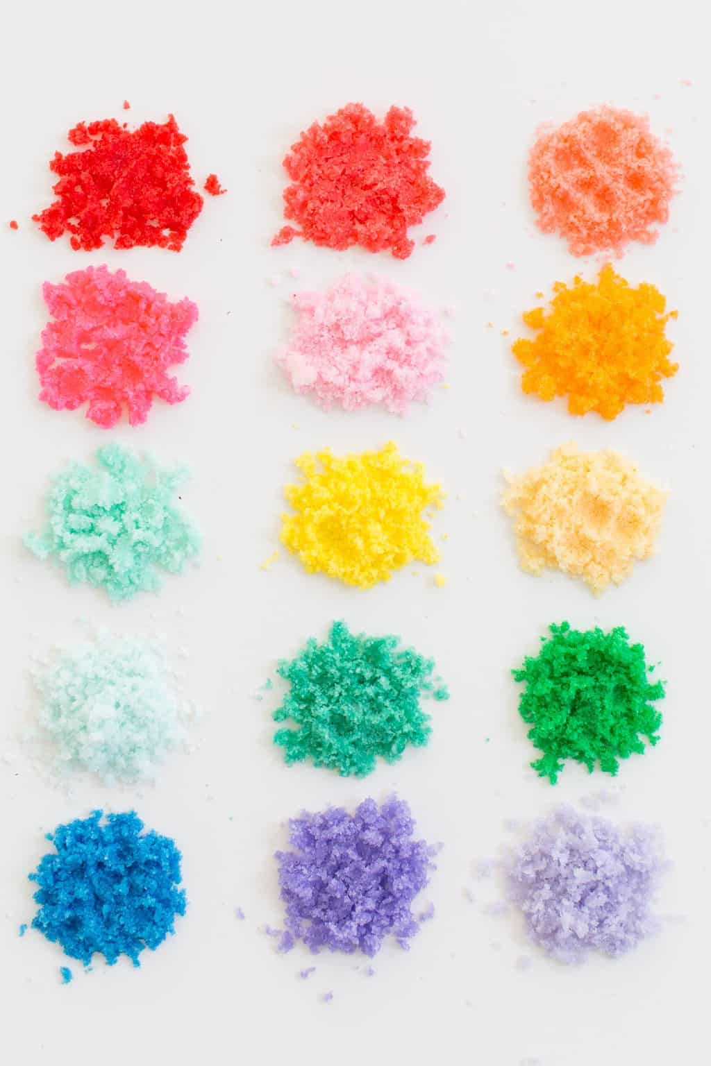 photo of the different color ways and options to make your own diy sand art sugar scrub by top Houston lifestyle blogger Ashley Rose of Sugar & Cloth
