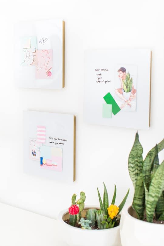DIY geometric inspiration board - Sugar & Cloth