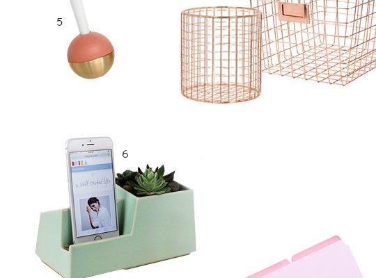 desktop detox: 10 cute desk accessories you need right now! - Sugar & Cloth