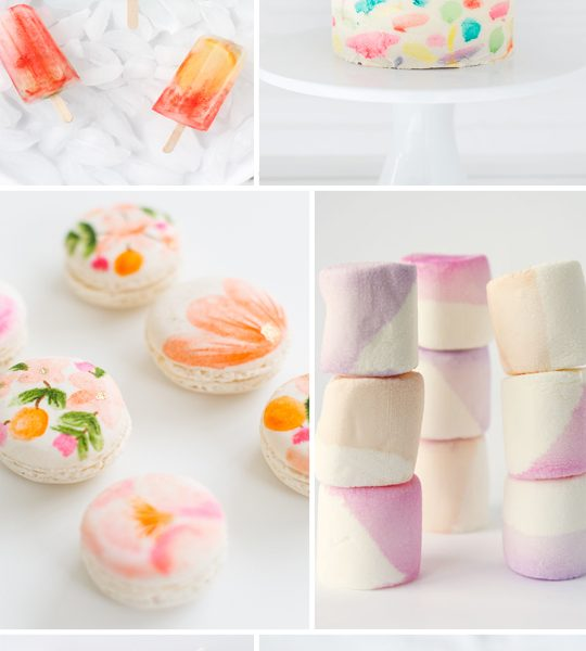6 watercolor desserts we're loving - Sugar & Cloth