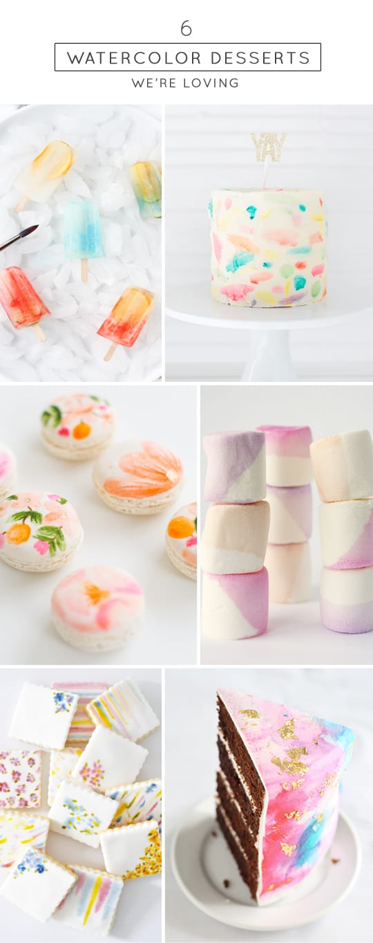 6 DIY watercolor sweets we're loving - Sugar & Cloth