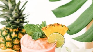 Watermelon Papaya Rum Smoothie