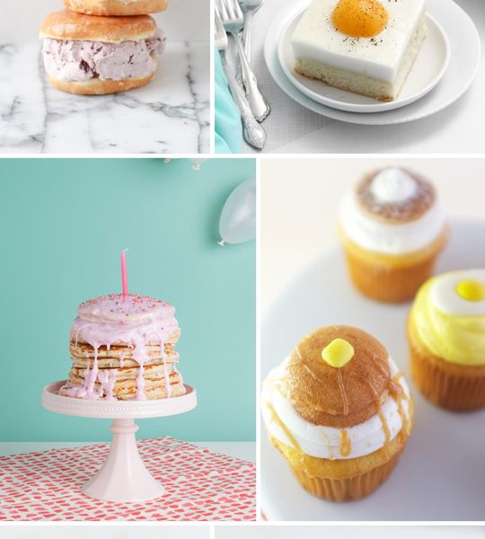 6 breakfast inspired desserts - sugar & cloth