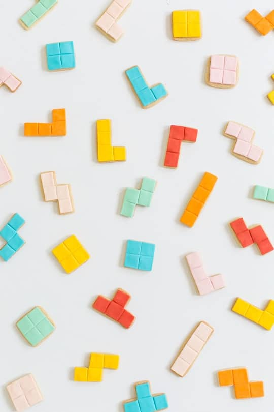 DIY tetris cookies - sugar & cloth