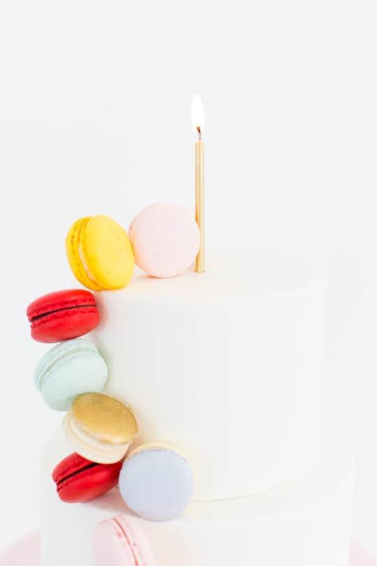 DIY Macaron Cake - Sugar & Cloth - Ashley Rose