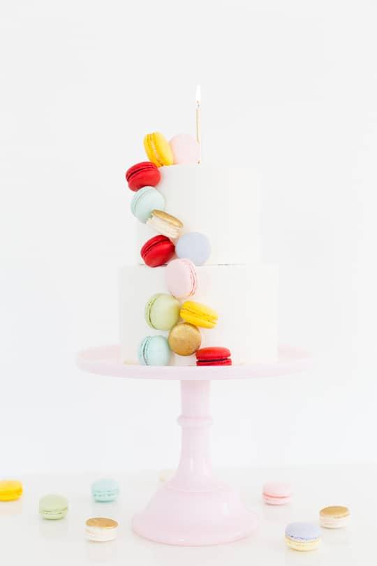 DIY Macaron Cake & Giveaway Week Details! | Sugar & Cloth