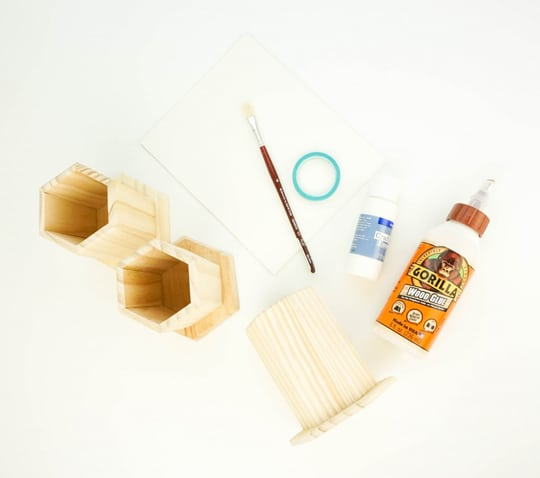 hexagonal DIY desktop organizer - Sugar & Cloth