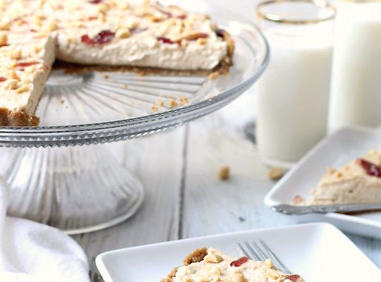 Boozy peanut butter and jelly tart recipe - sugar and cloth