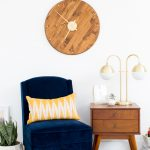 DIY Mid Century Wall Clock