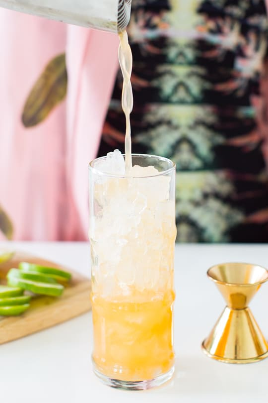 esmeralda fizz cocktail recipe - sugar & cloth