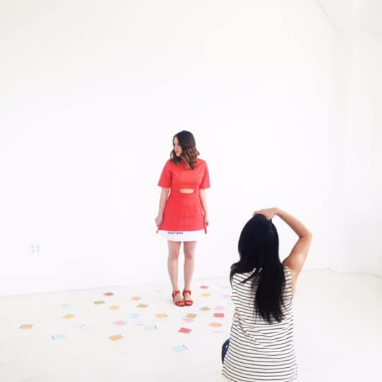 sugar and cloth studio behind the scenes - ashley rose - laduree US