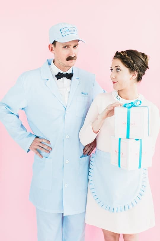 Hipster Halloween: DIY The Grand Budapest Hotel couples costume idea - Sugar & Cloth by Top Blogger Ashley Rose #costume #couplescostume #diy #diycostume #grandbudapest #mendel's #agatha #halloween #halloweencostume