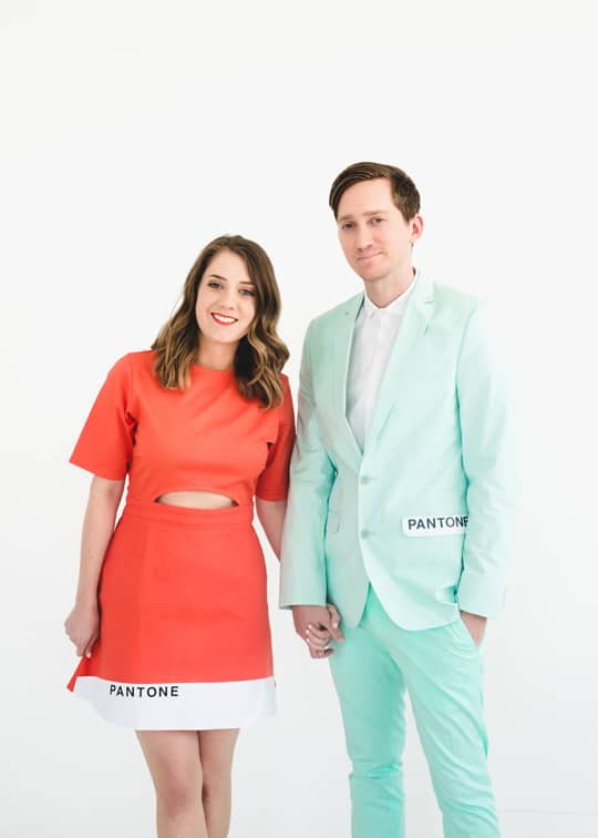 Hipster Halloween: DIY Pantone Color Combo Couples Costume by Top Houston Blogger Ashley Rose of  Sugar & Cloth #halloween #costumes #pantone #hispter #diy #diycostume #lastminute #easy #simple #fun #couples #couplescostume
