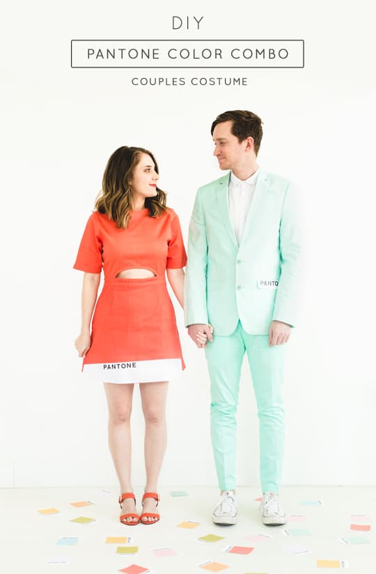 Diy Pantone Color Combo Couples Costume Sugar Cloth