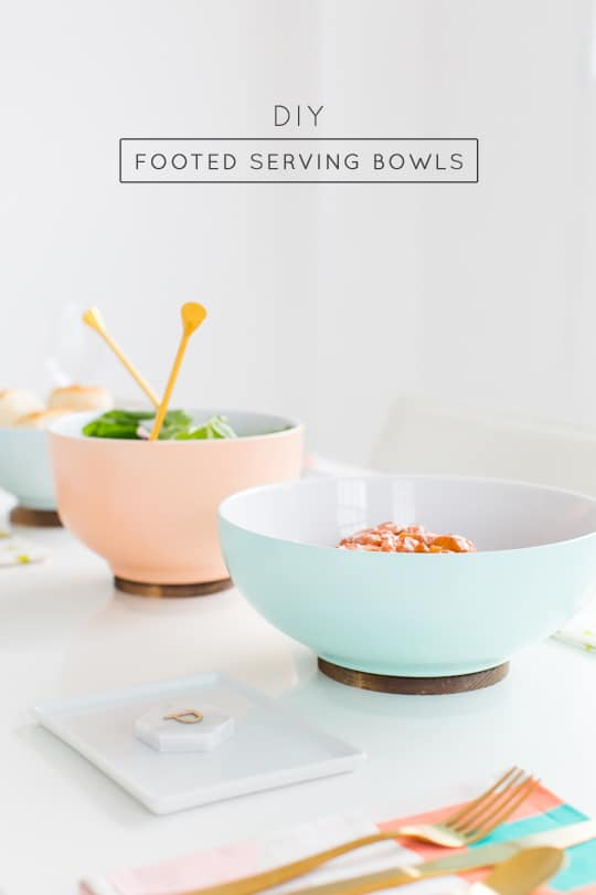 DIY Footed Serving Bowl - Sugar and Cloth