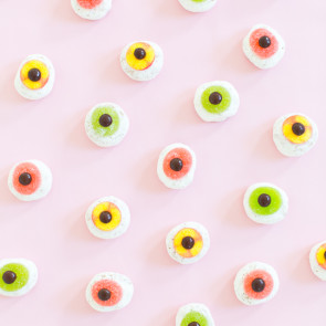 DIY Mini Monster Eyeball Donuts