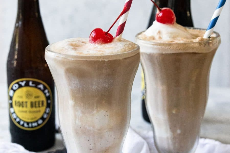 photo of the best root beer float recipe by top Houston lifestyle blogger Ashley Rose of Sugar & Cloth