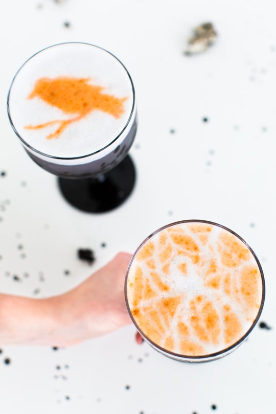 Creepy Cocktails: Spooky stencil cocktails - sugar and cloth