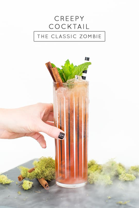 Creepy cocktails: The classic zombie recipe - sugar and cloth