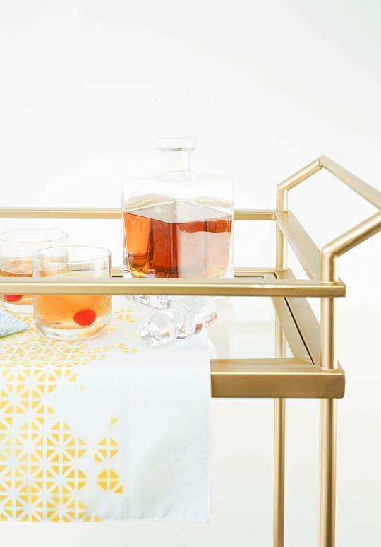 DIY bar cart runner - sugar and cloth