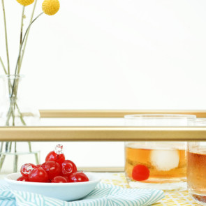 DIY Bar Cart Runner