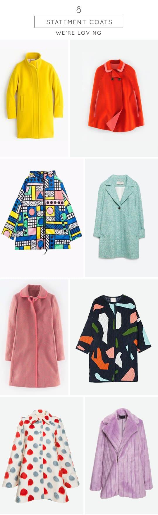 8 statement coats we're loving