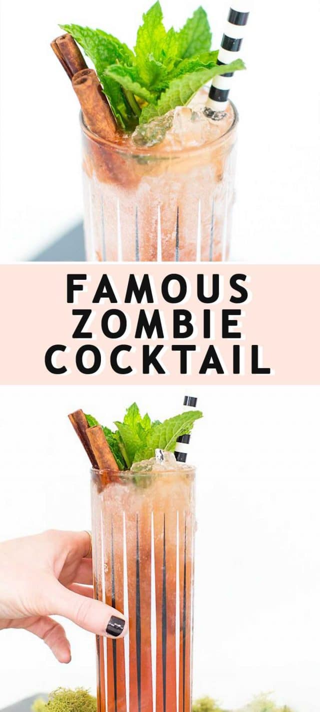 long photo with a graphic of a zombie cocktail