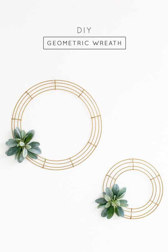 Simple DIY Geometric Wreath - Sugar & Cloth