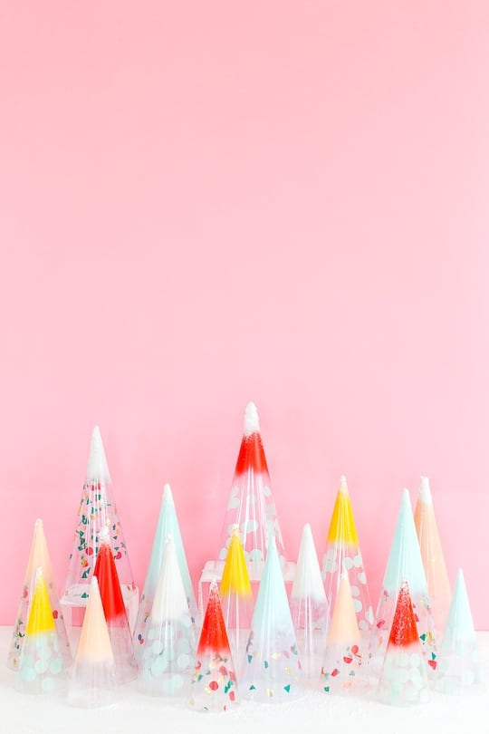 DIY Christmas trees: confetti domes - sugar & cloth